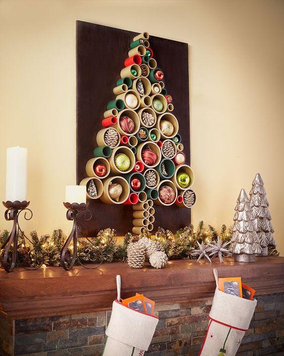 arvore de natal artesanal cano