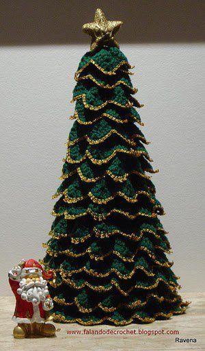 arvore de natal artesanal croche