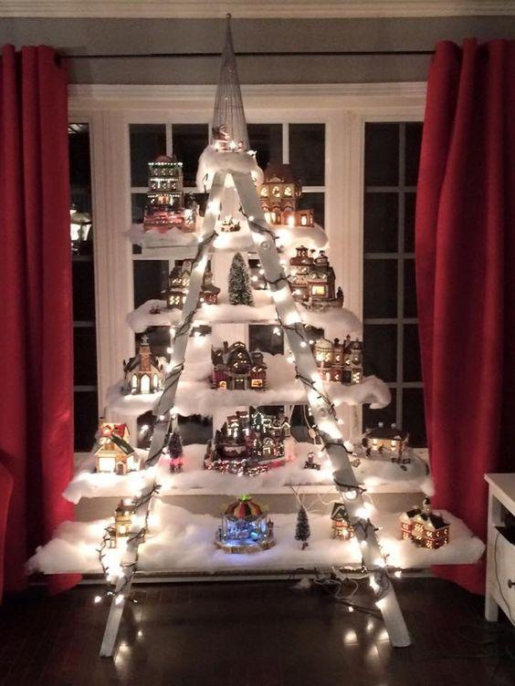arvore de natal artesanal escada