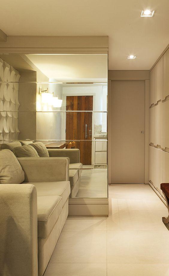 espelho bisotado sala de estar