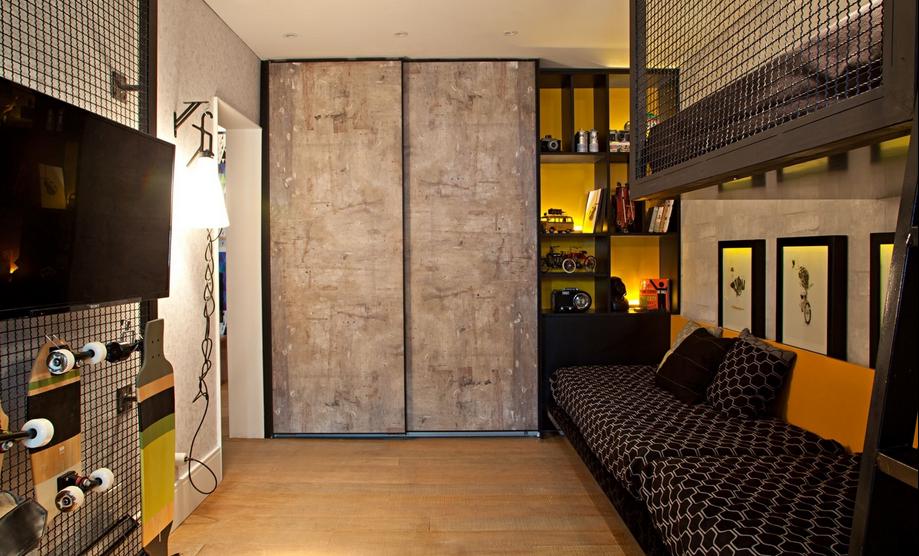 dormitorio masculino de solteiro